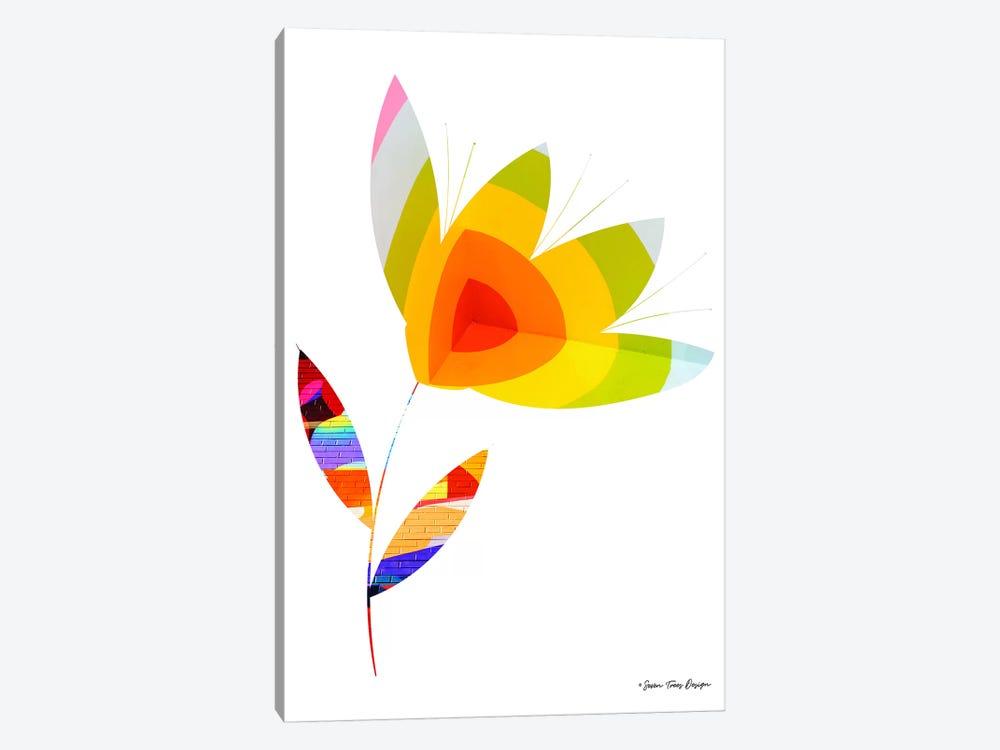 Street Art Flower I by Seven Trees Design 1-piece Canvas Art Print