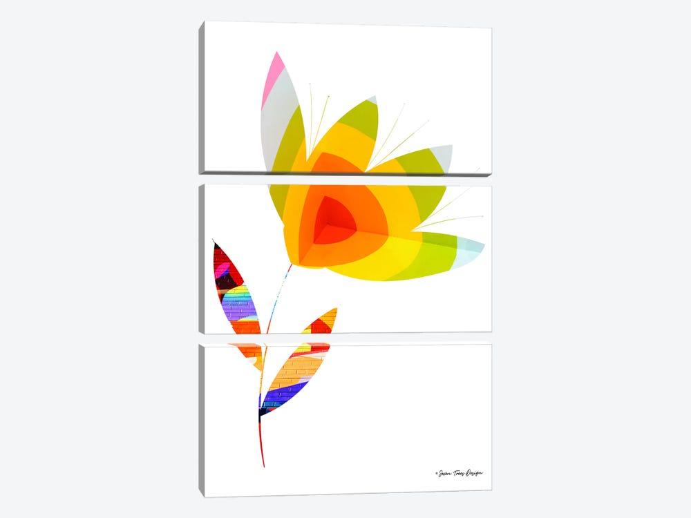 Street Art Flower I by Seven Trees Design 3-piece Canvas Art Print