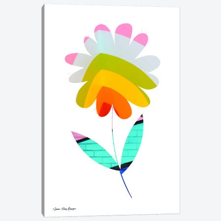 Street Art Flower II Canvas Print #STD58} by Seven Trees Design Canvas Wall Art