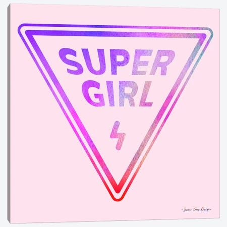 Super Girl Canvas Print #STD60} by Seven Trees Design Canvas Art Print