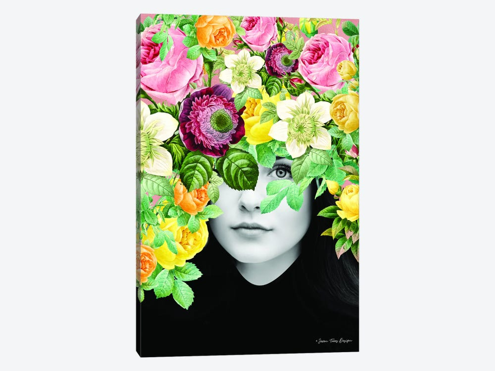 The Girl and the Flowers by Seven Trees Design 1-piece Art Print