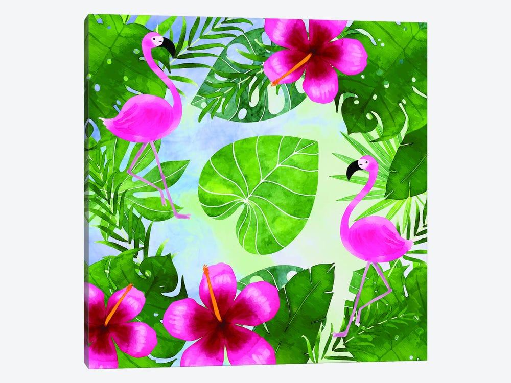 Tropical Life Flamingo I by Seven Trees Design 1-piece Canvas Art