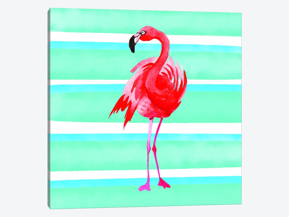 Tropical Life Flamingo III by Seven Trees Design 1-piece Canvas Art
