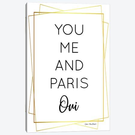 You Me and Paris Canvas Print #STD78} by Seven Trees Design Canvas Artwork