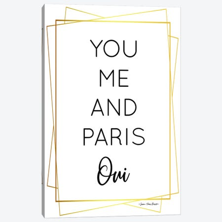 You Me and Paris Canvas Print #STD78} by Seven Trees Design Canvas Artwork