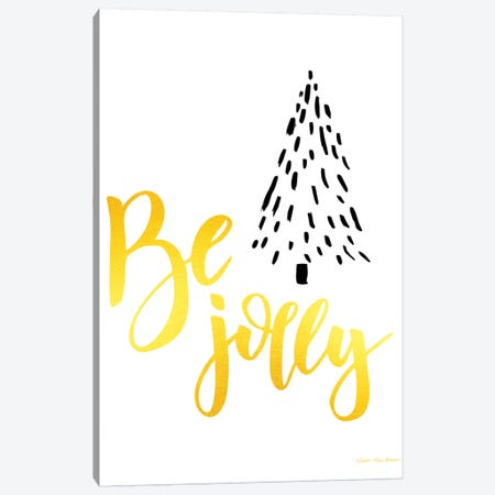Be Jolly Christmas Tree Canvas Print #STD79} by Seven Trees Design Canvas Wall Art