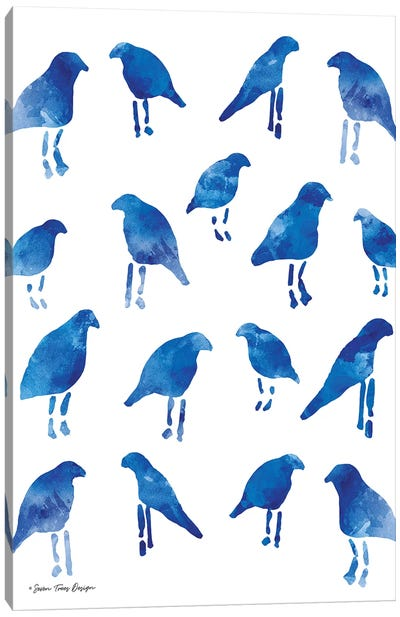 Bleu Birds Canvas Art Print