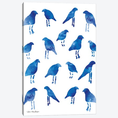 Bleu Birds Canvas Print #STD7} by Seven Trees Design Canvas Art Print