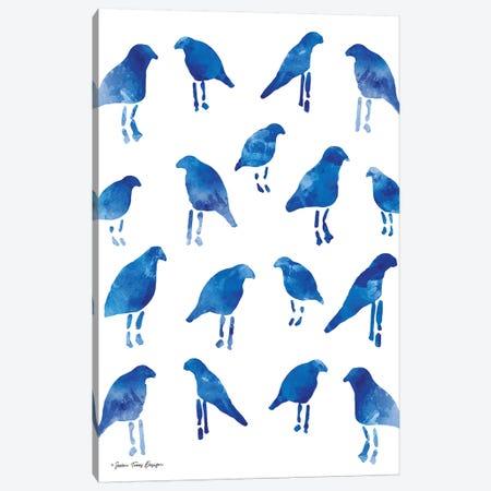 Bleu Birds Canvas Print #STD7} by Seven Trees Design Canvas Art Print