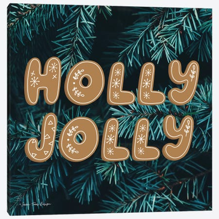 Gingerbread Holly Jolly   Canvas Print #STD83} by Seven Trees Design Canvas Art Print