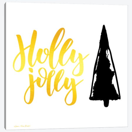 Holly Jolly Christmas Tre Canvas Print #STD84} by Seven Trees Design Canvas Art