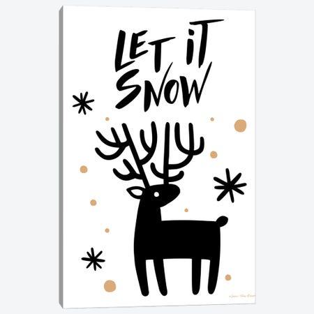 Let It Snow Reindeer Canvas Print #STD85} by Seven Trees Design Canvas Art