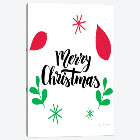 Merry Christmas Greenery Canvas Print #STD86} by Seven Trees Design Canvas Art