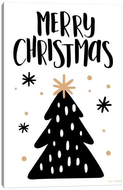 Merry Christmas Tree Canvas Art Print
