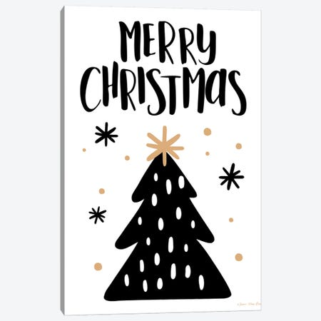 Merry Christmas Tree Canvas Print #STD87} by Seven Trees Design Canvas Artwork
