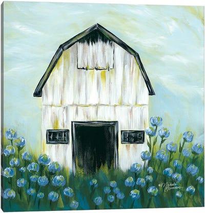 Blue Flowers Canvas Art Print
