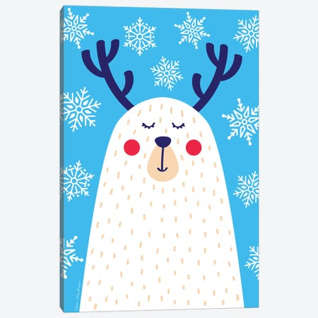 Snowflake Reindeer Canvas Print #STD90} by Seven Trees Design Canvas Wall Art