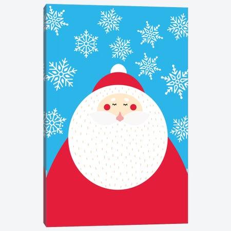 Snowflake Santa Claus Canvas Print #STD91} by Seven Trees Design Canvas Artwork