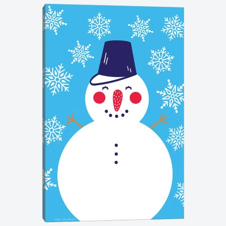 Snowflake Snowman Canvas Print #STD92} by Seven Trees Design Canvas Art