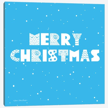 Snowy Merry Christmas Canvas Print #STD94} by Seven Trees Design Art Print
