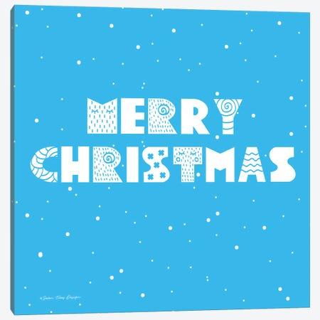 Snowy Merry Christmas Canvas Print #STD94} by Seven Trees Design Art Print