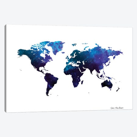 Space Watercolor World Canvas Print #STD97} by Seven Trees Design Canvas Art Print