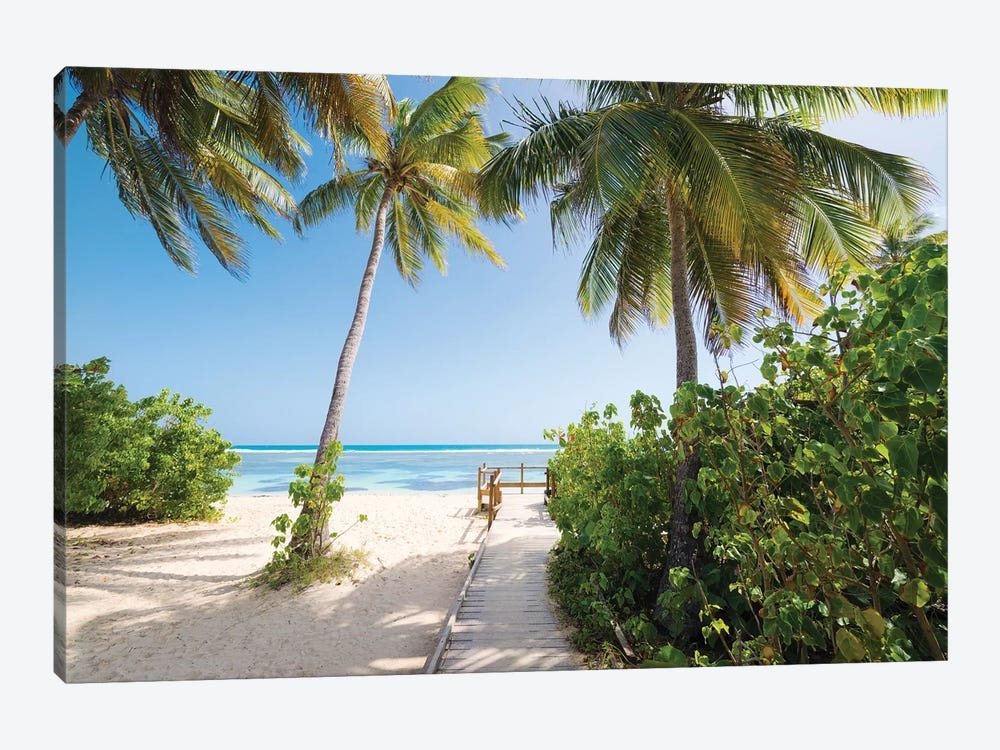 Lonely Paradise - Caribbean by Stefan Hefele 1-piece Canvas Artwork