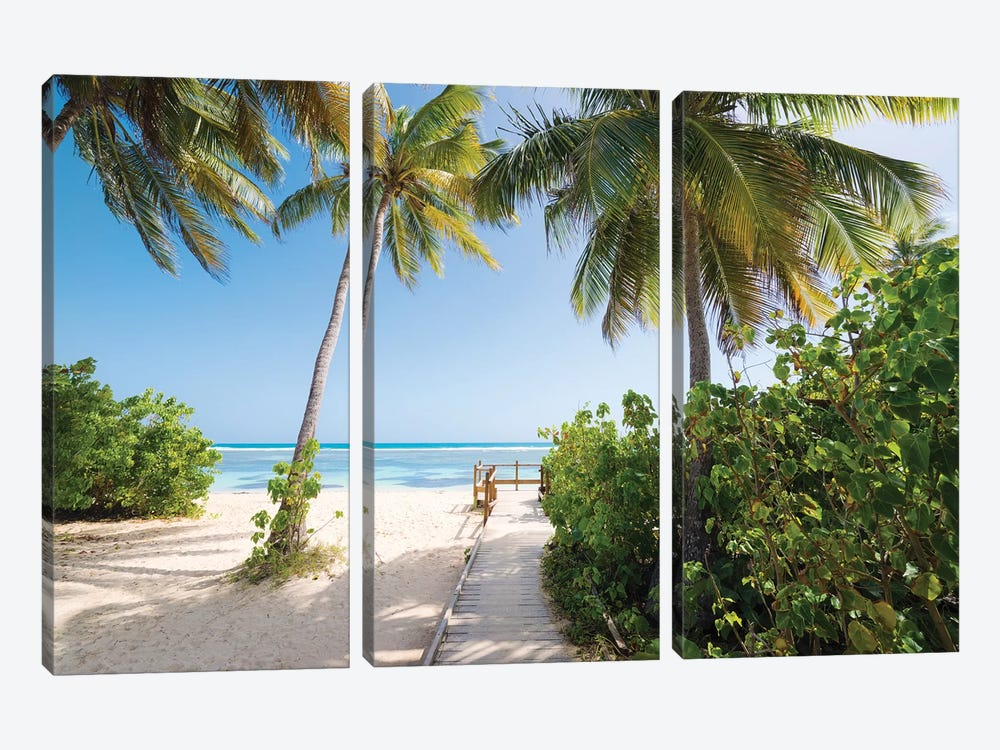 Lonely Paradise - Caribbean by Stefan Hefele 3-piece Canvas Wall Art