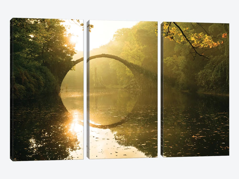 Lord Of The Bridges by Stefan Hefele 3-piece Canvas Print