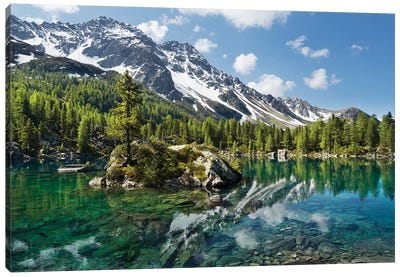 Magic Lake Canvas Art Print