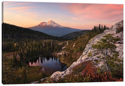 Mount Shasta, California - Between The Light Canvas Art Print