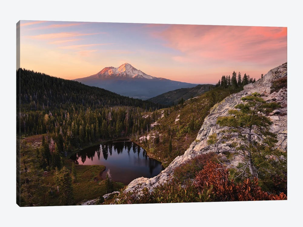 Mount Shasta, California - Between The Light by Stefan Hefele 1-piece Canvas Art Print