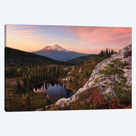 Mount Shasta, California - Between The Light Canvas Print #STF112} by Stefan Hefele Canvas Wall Art