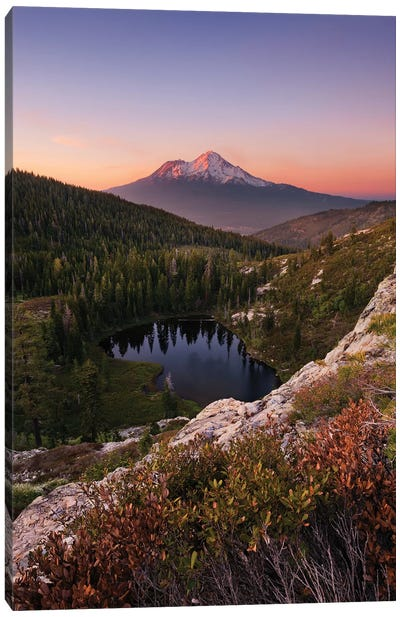 Mount Shasta, California - Between The Light, Vertical Canvas Art Print