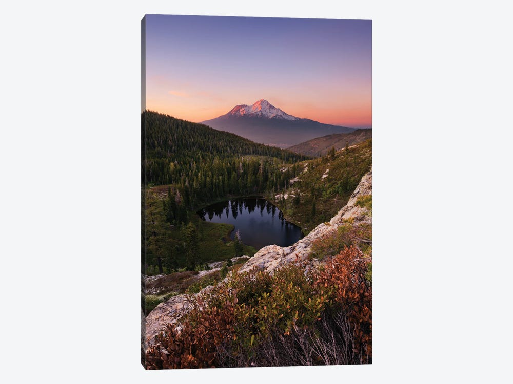 Mount Shasta, California - Between The Light, Vertical 1-piece Canvas Art