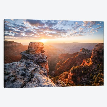 On The Rocks - Grand Canyon Canvas Print #STF119} by Stefan Hefele Canvas Art
