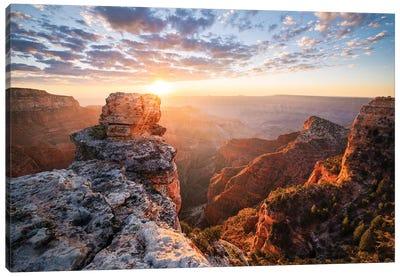 On The Rocks - Grand Canyon Canvas Art Print