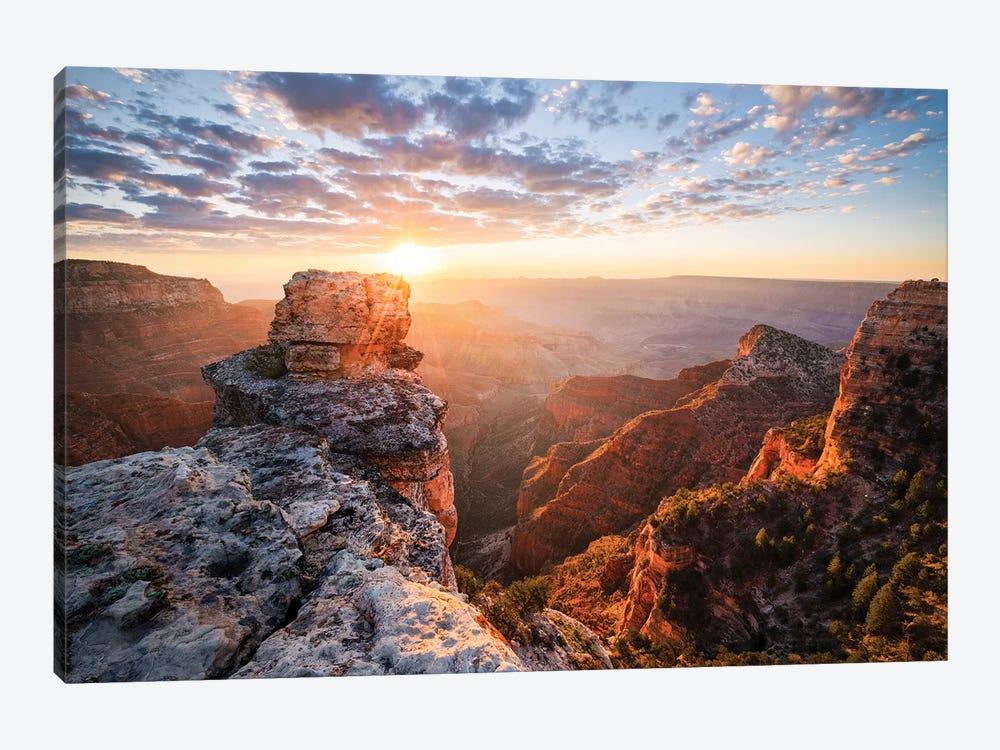 On The Rocks - Grand Canyon by Stefan Hefele 1-piece Canvas Art