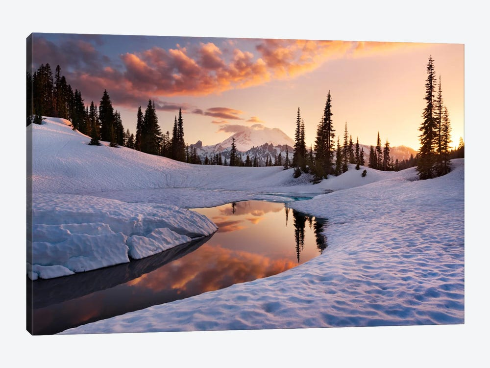 America The Beautiful - Mount Rainier by Stefan Hefele 1-piece Canvas Art