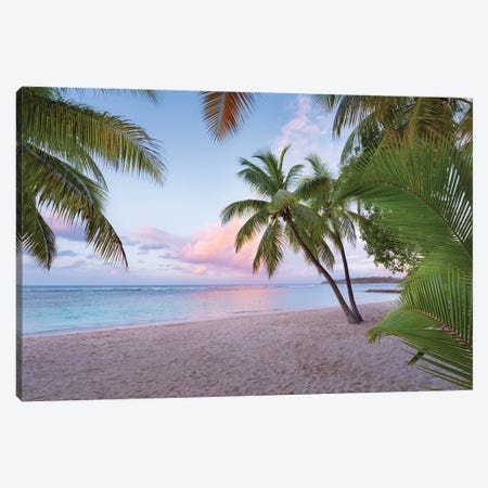 Palm Beach, Caribbean Canvas Print #STF122} by Stefan Hefele Canvas Art Print