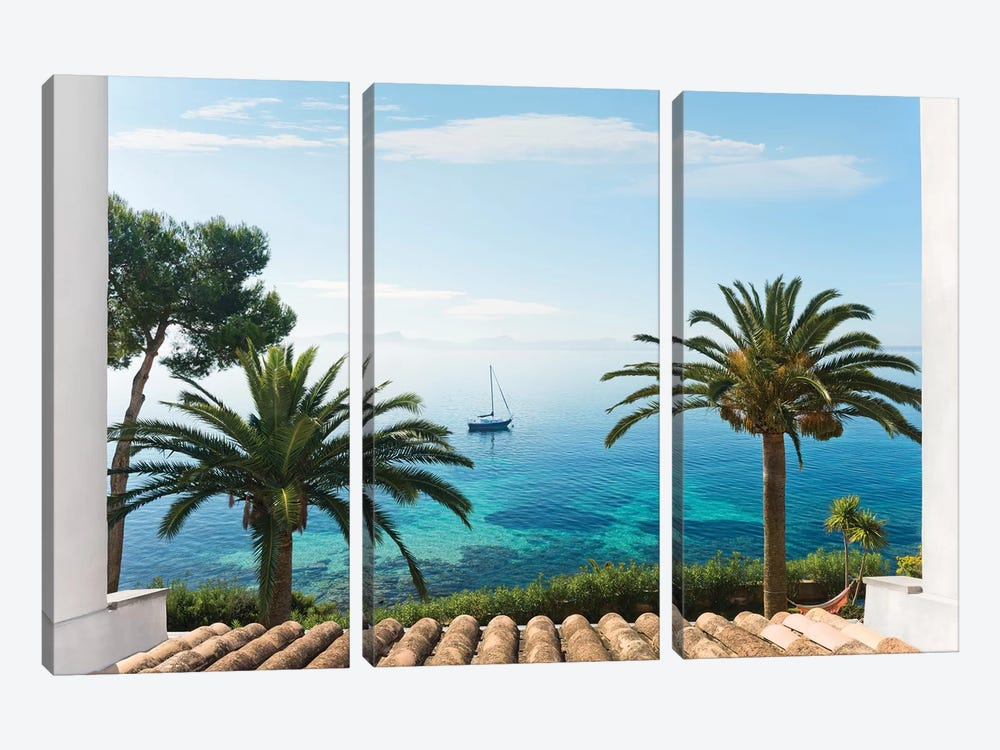 Paradise View by Stefan Hefele 3-piece Canvas Art