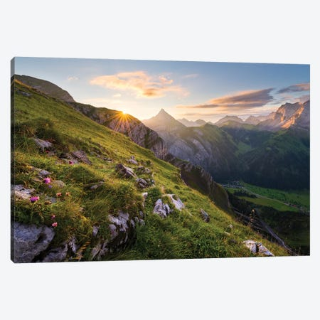 Picturesque Alps Canvas Print #STF128} by Stefan Hefele Art Print