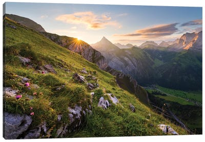 Picturesque Alps Canvas Art Print