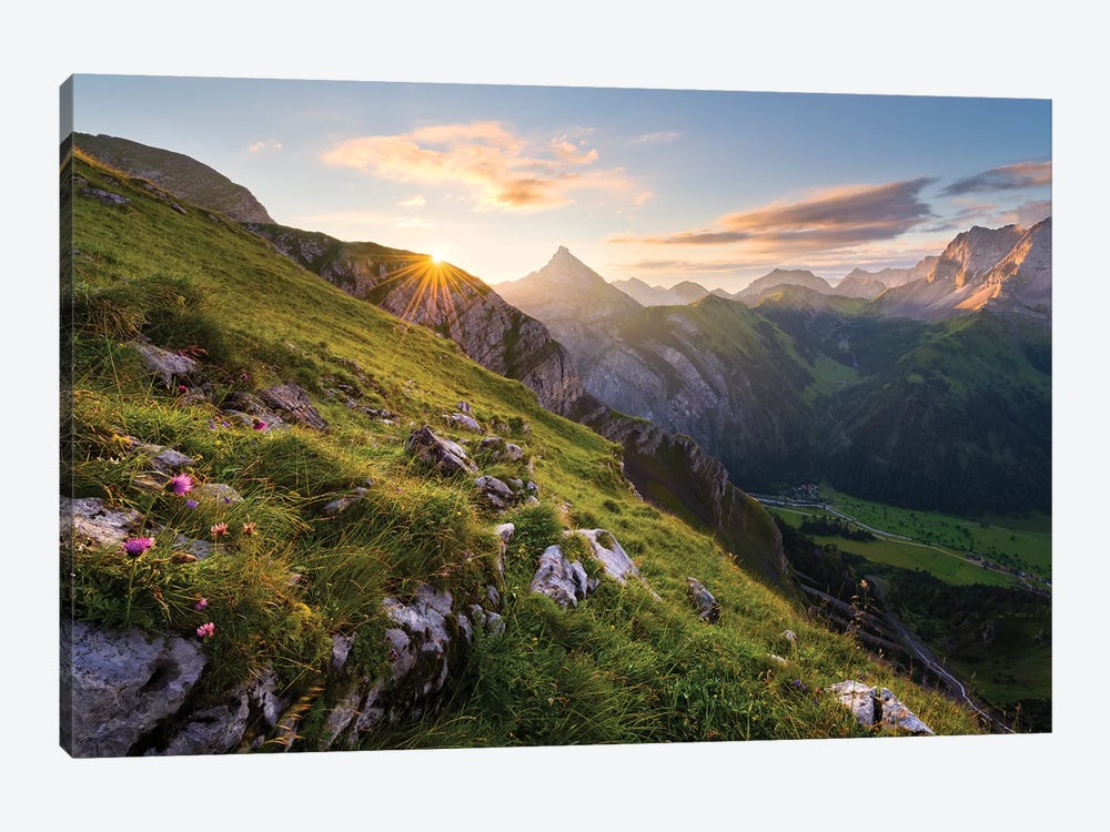 Picturesque Alps by Stefan Hefele 1-piece Canvas Wall Art