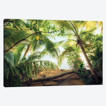 Pirate's Hideout, Caribbean Canvas Print #STF129} by Stefan Hefele Canvas Print