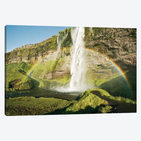 Power Of Iceland Canvas Print #STF133} by Stefan Hefele Canvas Artwork