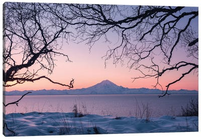 Redoubt Volcano, Aleutians, Alaska Canvas Art Print