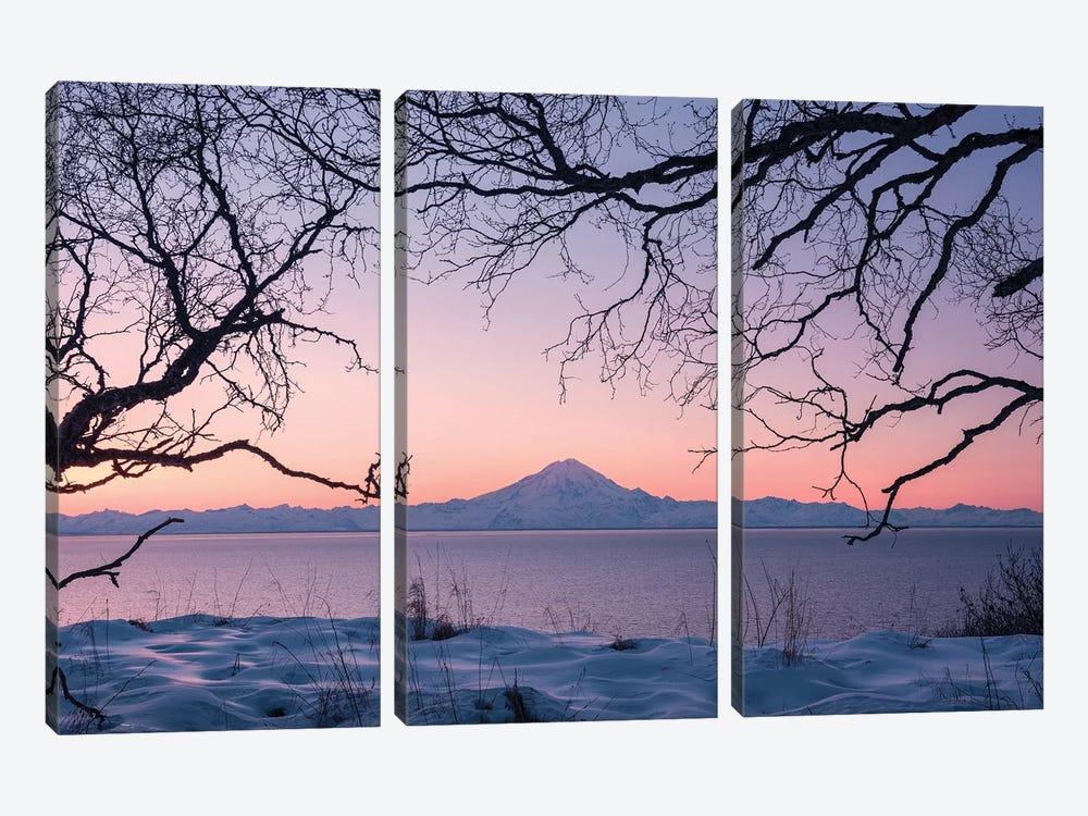 Redoubt Volcano, Aleutians, Alaska by Stefan Hefele 3-piece Art Print
