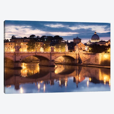 Romantico Rome Canvas Print #STF141} by Stefan Hefele Canvas Art Print