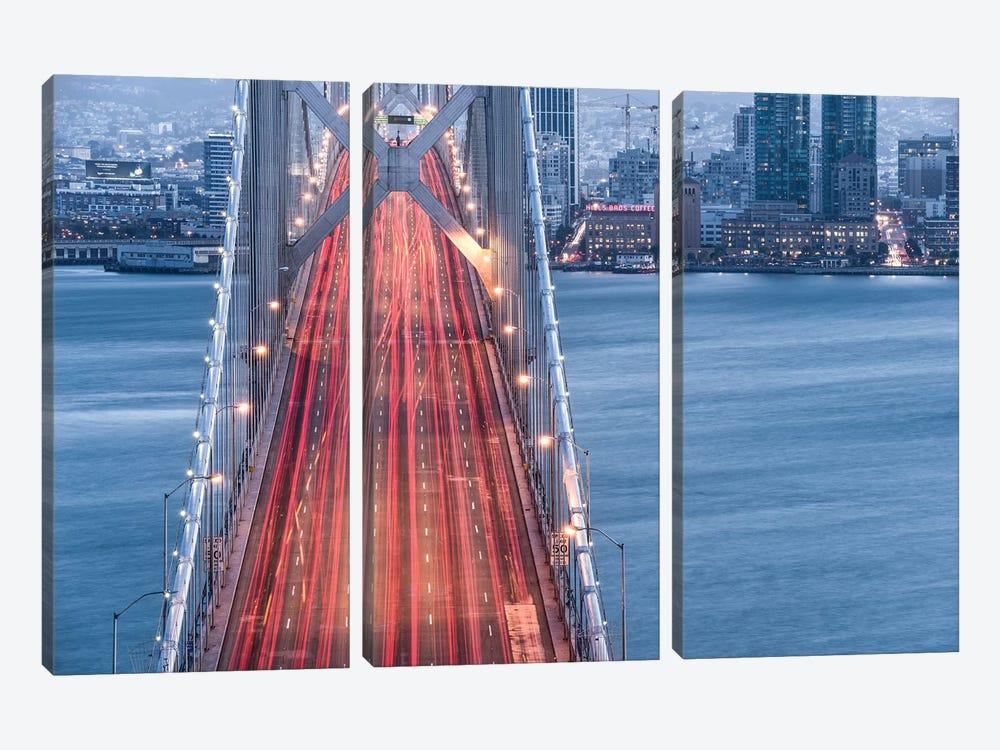 San Francisco Blues by Stefan Hefele 3-piece Canvas Art Print